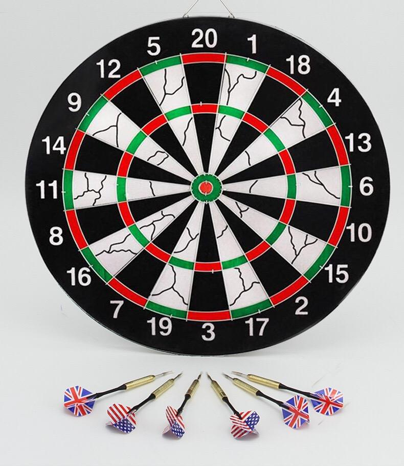 Factory Direct Sales 45cm diameter 15 inch double-sided flocking dart target dart board set needle Dart