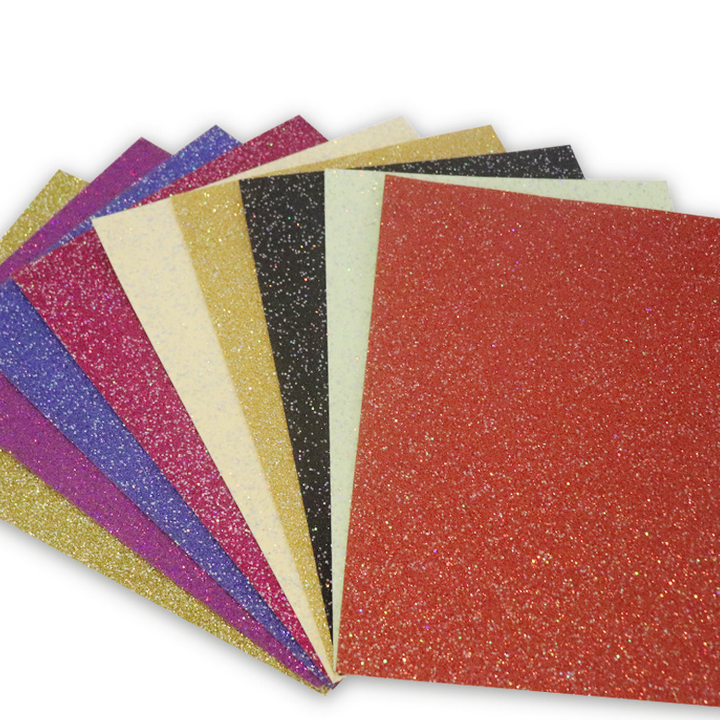 High Quality factory 250grams Materials DIY hand craft paper for card making 12x12 glitter cardstock