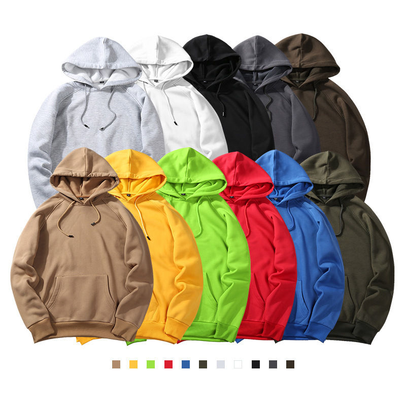 Wholesale Can Be Customized Unisex Hoodies Cotton Street Wear Oversized Hoodie Custom Logo Street Clothing Solid Color Hoodies