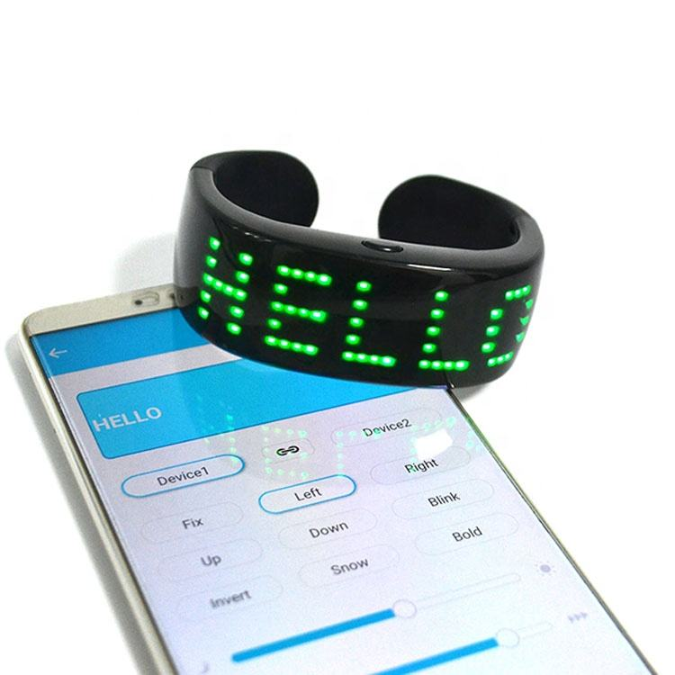 APP Controlled Rolling Message Display LED Light Up Bracelet