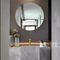 High Standard Delicate Classic Top Standard Round Stainless Steel Frame Mirror Frame for Bathroom