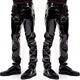 Wonder Beauty Skinny PU Leather Pants Men Trousers Slim Fit Leather Pencil Pants W926005