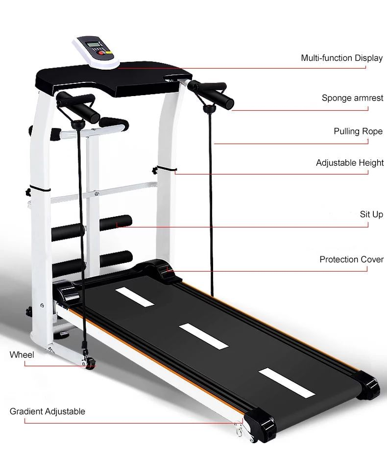 New Arrival Home Fitness Non Powered Exercise Running Machine Multifunction Foldable Manual Treadmill