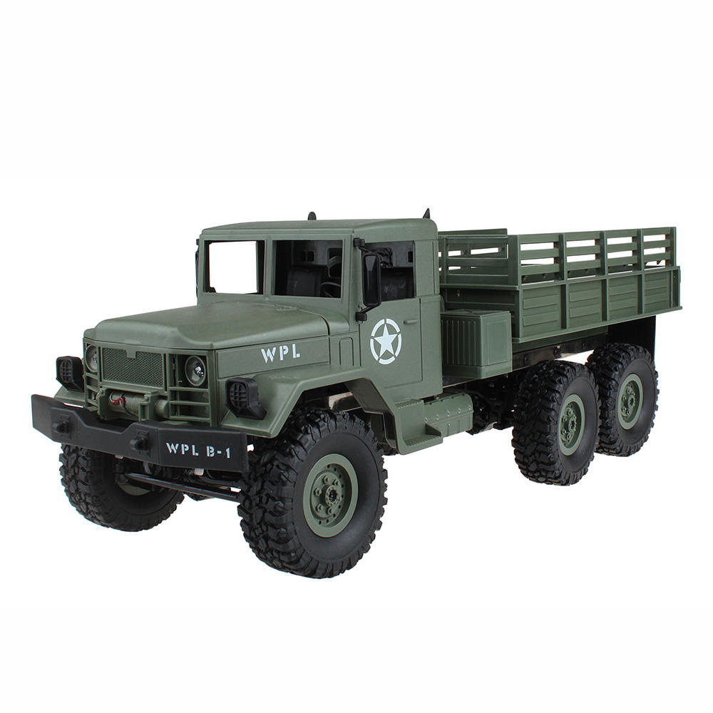 WPL B16 B-16K B-16R 2.4G 1:16 6WD Remote Control Off-road Car Toys Model RC Military Climbing Car Truck Vehicle Gift for Boy