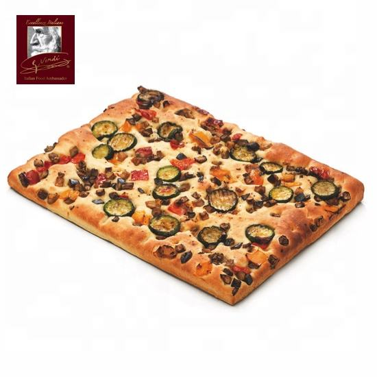 1050g Frozen Italian Pizza with Grilled Vegetables 30x40cm Giuseppe Verdi Selection Pizza