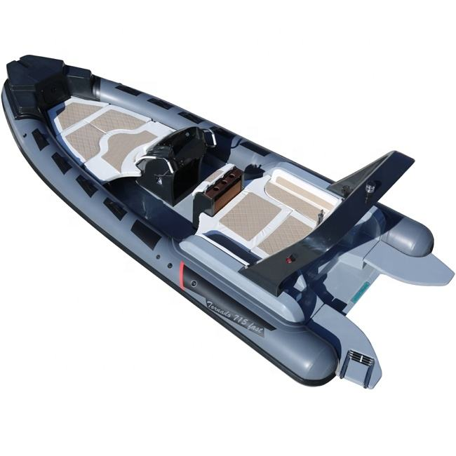 New Model 23.3ft Luxury RIB Hypalon Inflatable Fishing Rowing Boat with 200HP Engine for Sale Italy