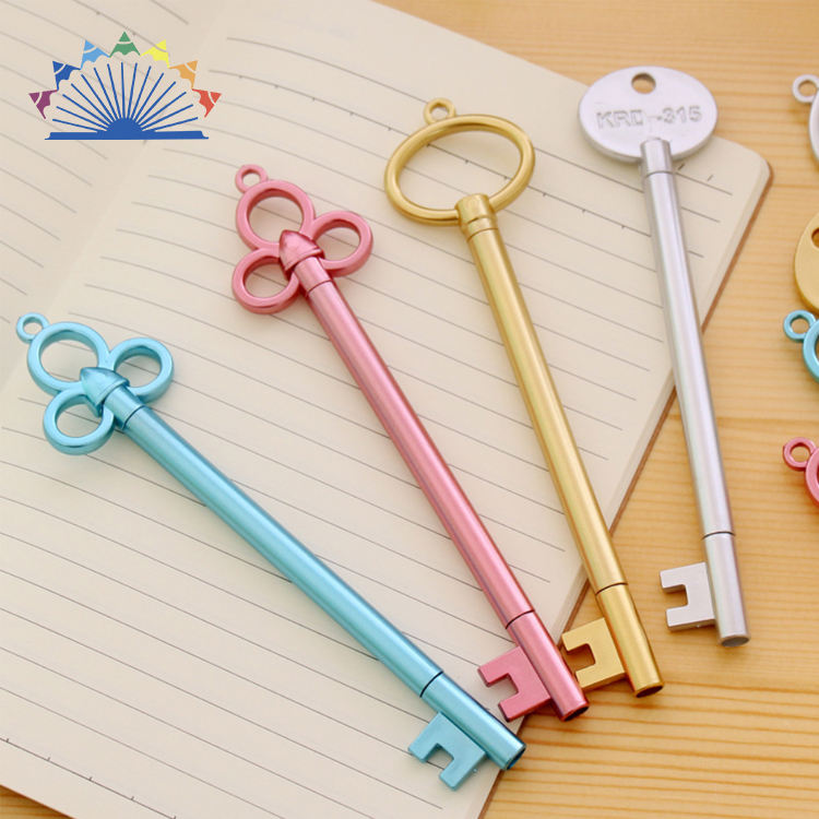 Novelty Logo Key Style Ballpoint Pen Kawaii Rollerball Pen