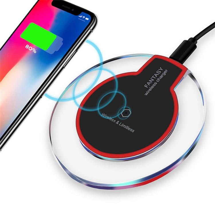 Wireless Charger Universal Qi Pengisian Telepon Cepat Charger Pad untuk S8 Plus S7 Edge S6 S6 Edge Plus