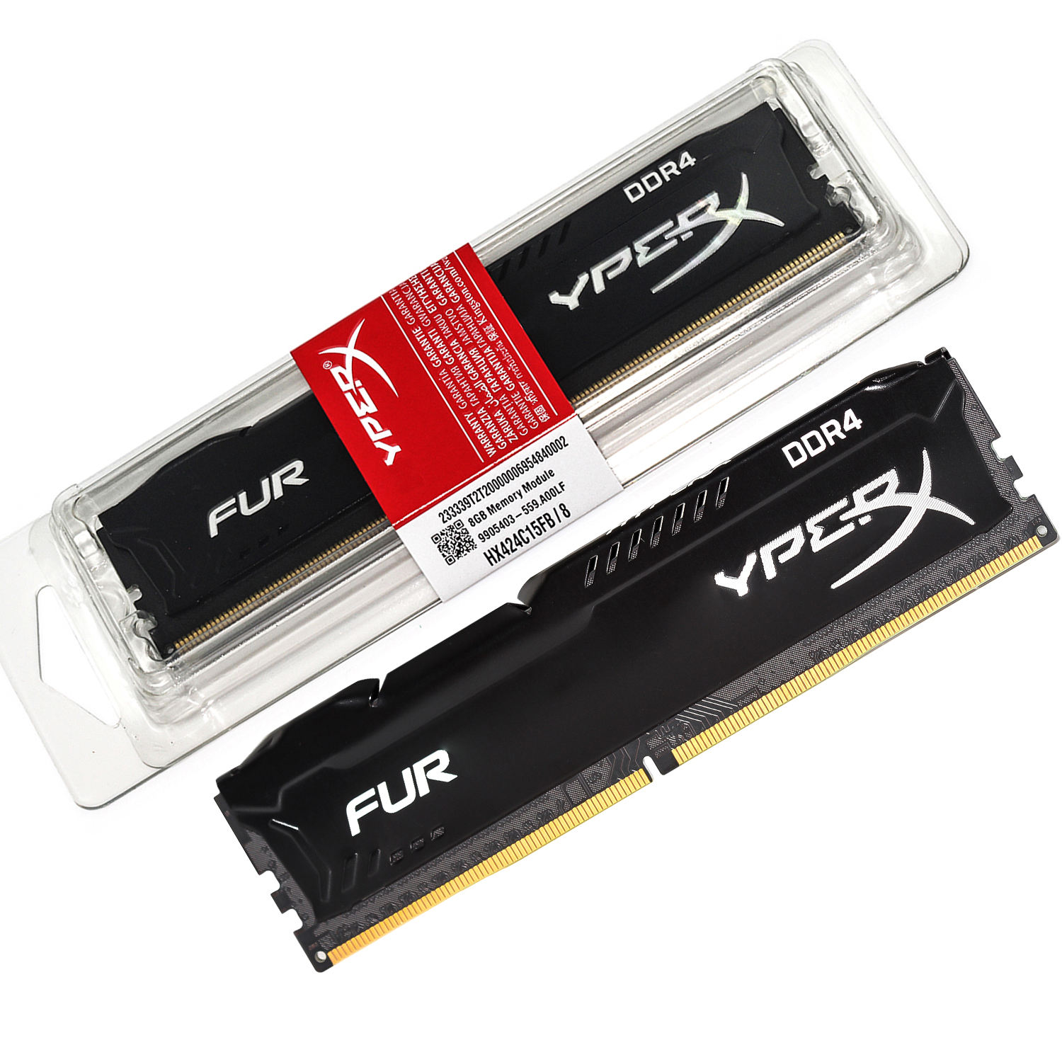 15 Years Factory HX Ram Desktop Ddr4 8gb 2400mhz Memory Modules 2400mhz 288pin All Compatible Heatsink Used HX ram