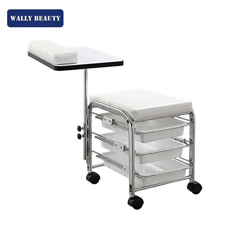 Professional pedicure trolley with wheels