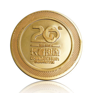 High quality custom engraved pure 24K gold plated souvenir coins