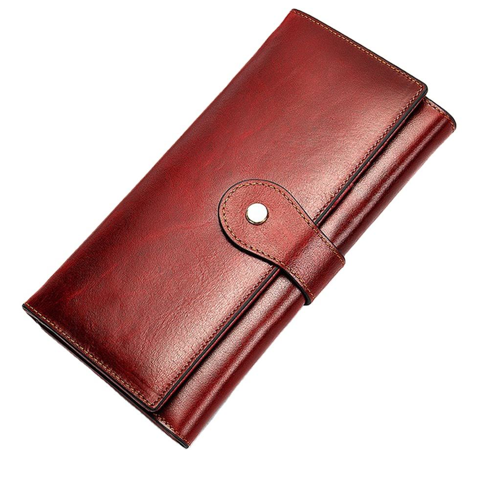 Genuine Cowhide Genuine Leather Long Wallet Leather Women Wallet Leather Wallet
