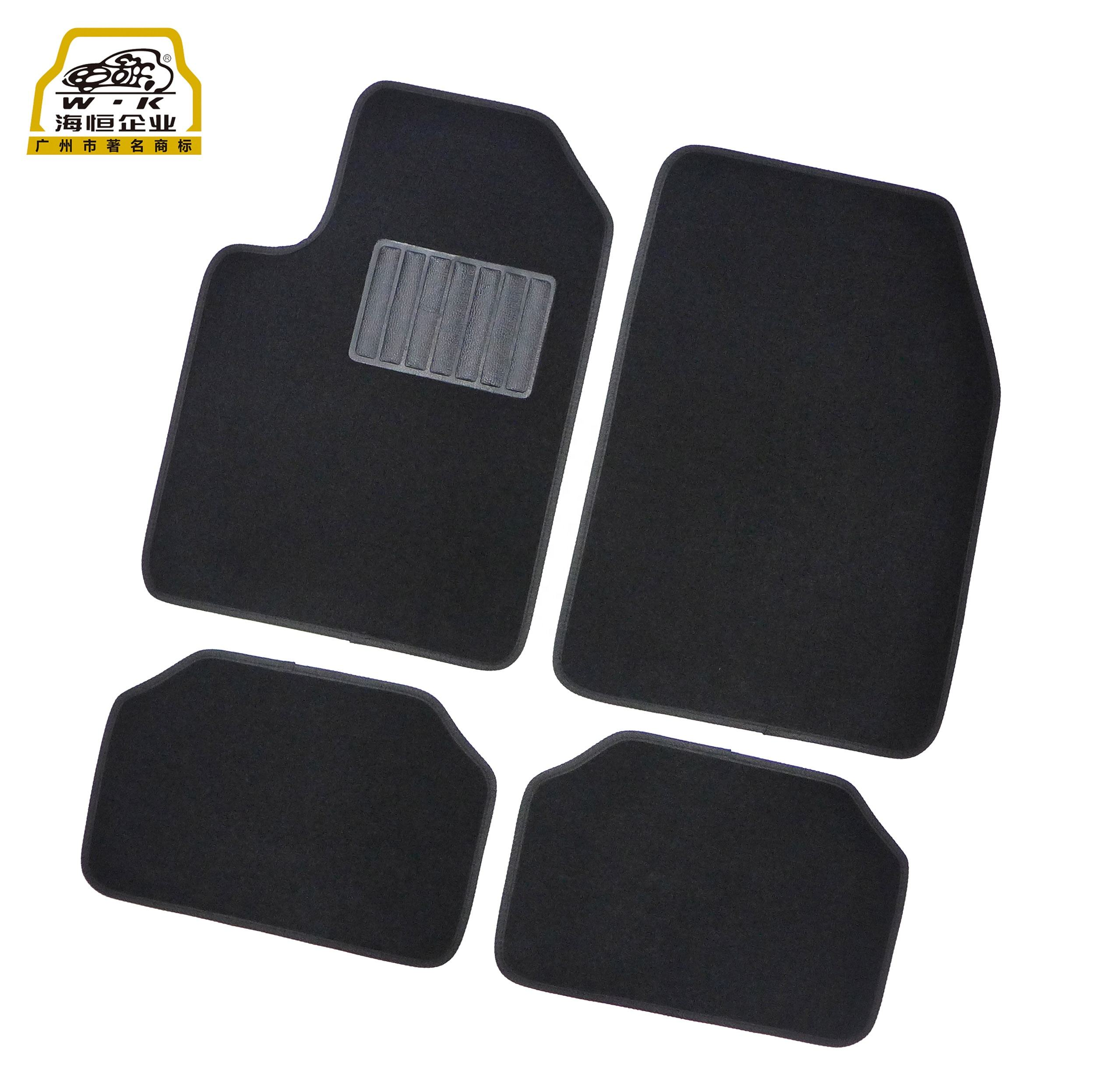 Automotive Accessories Universal Fitment Needle Felt Carpet Car Rug with Non Skid Spike Back and Pedal 4PCS for all cars