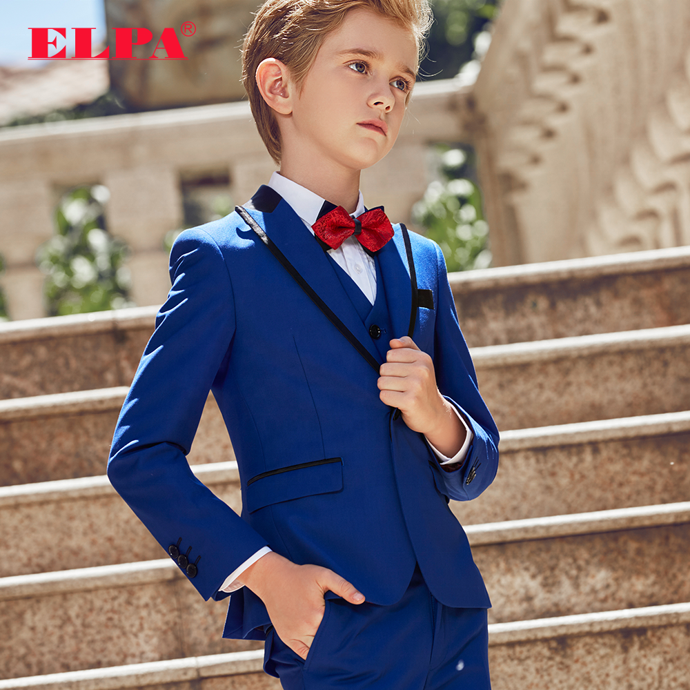 ELPA slim fit new fancy designer 3 piece kids party occasion dress formal suits for boys