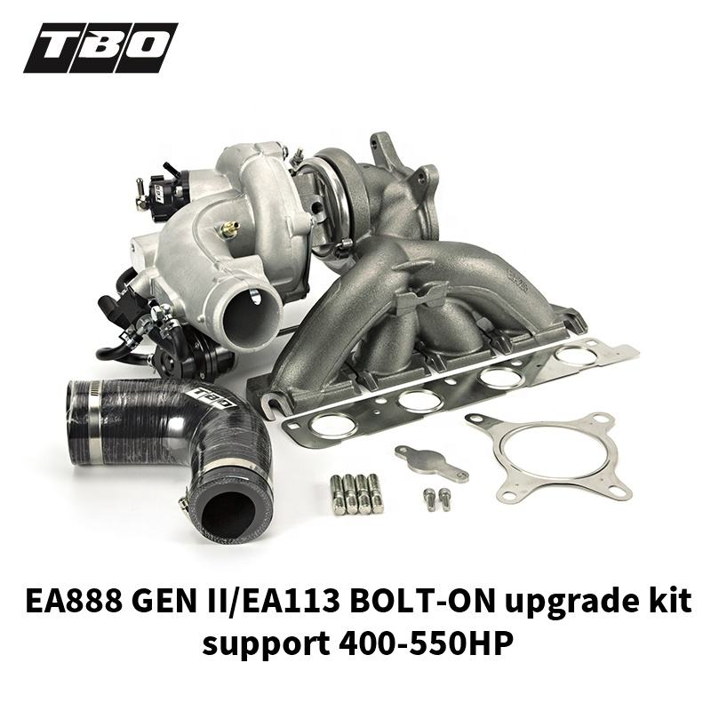 TBO EA28R EA888 GEN II EA113 2.0T bolt-on performance ball bearing turbocharger upgrade kit 400-550HP