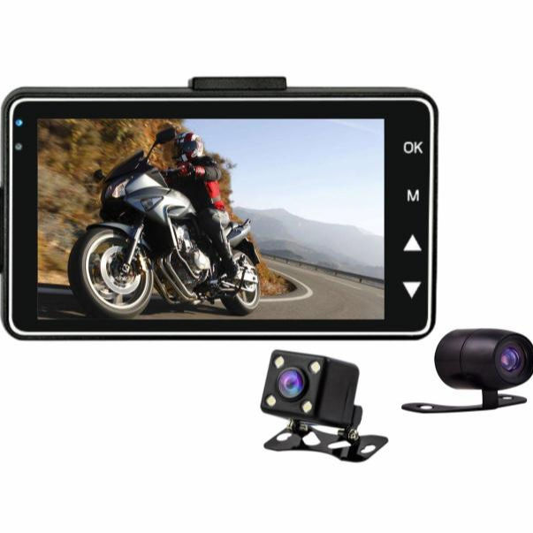 Shenzhen High Tech Ltd VG-MT-S Motorbike Camera Motorcycle DVR System Dual Lens HD1080P Front Camera and 720P Rear Camera 3 inch LCD Displayer VG