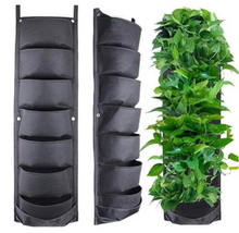 7 Pocket Waterproof Hanging Vertical Garden Wall Planter Felt Fabric Growing Bag Plant Pot