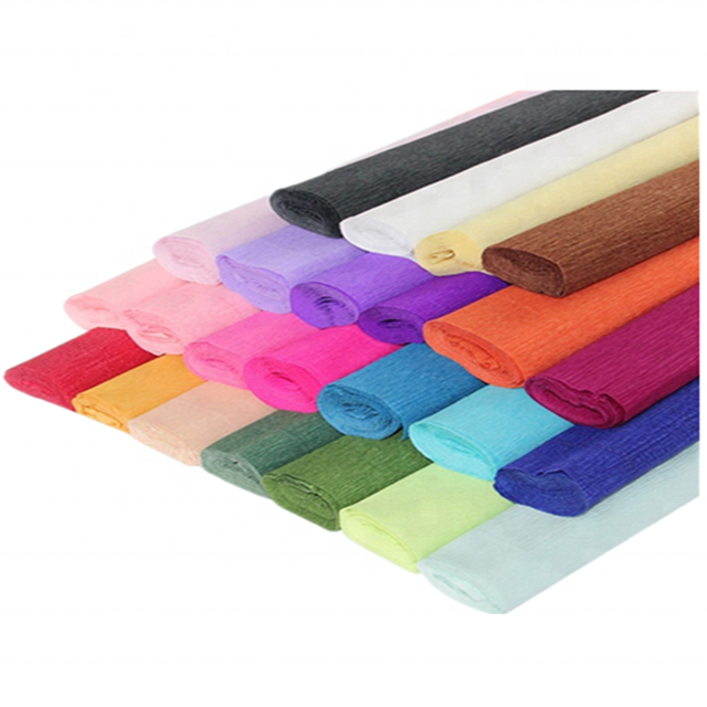 Colored Crepe Paper Roll Fadeless Crepe Paper For Crafting