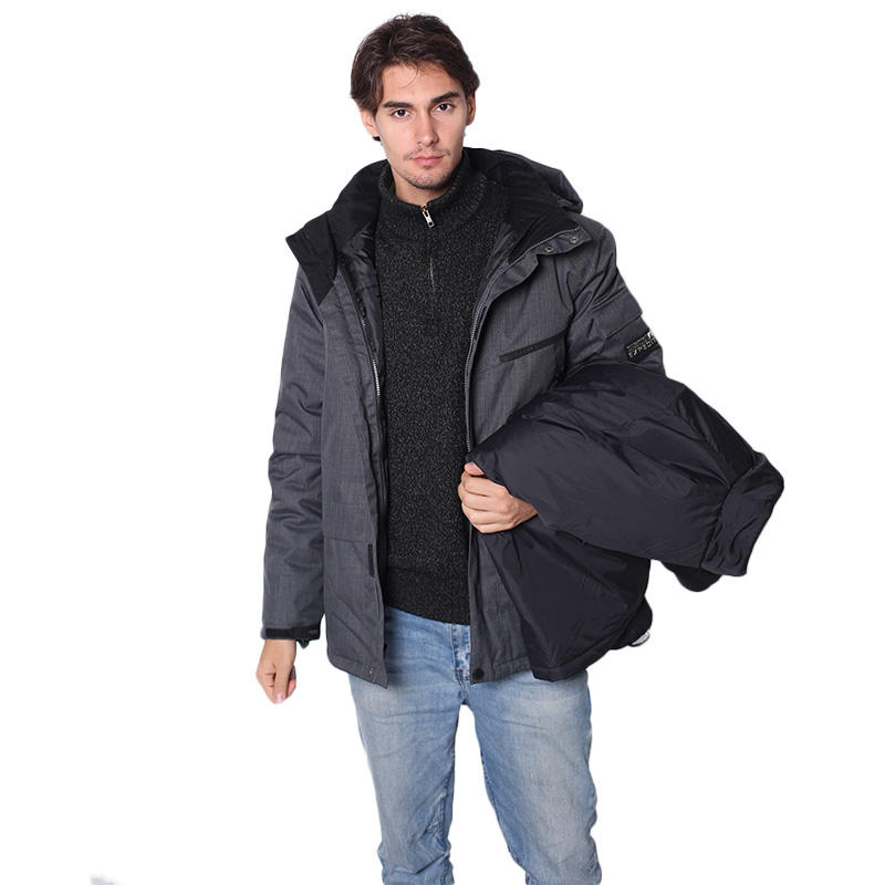 JACKETOWN New Outdoor Fashion Design Personalizzato <span class=keywords><strong>Mens</strong></span> Con Cappuccio 3 in 1 Giacca Invernale-30 <span class=keywords><strong>gradi</strong></span>