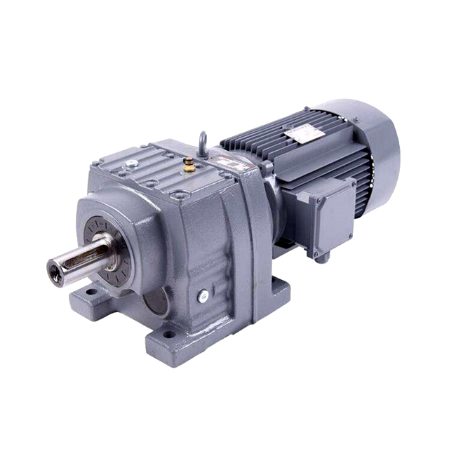 China sale 7.5kw high torque reducer 300N.m gear motor R67 helical gear box