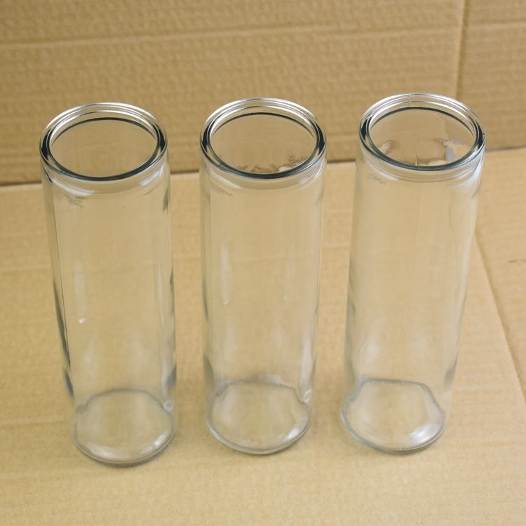 wholesale tall glass cylinder candle holder for church