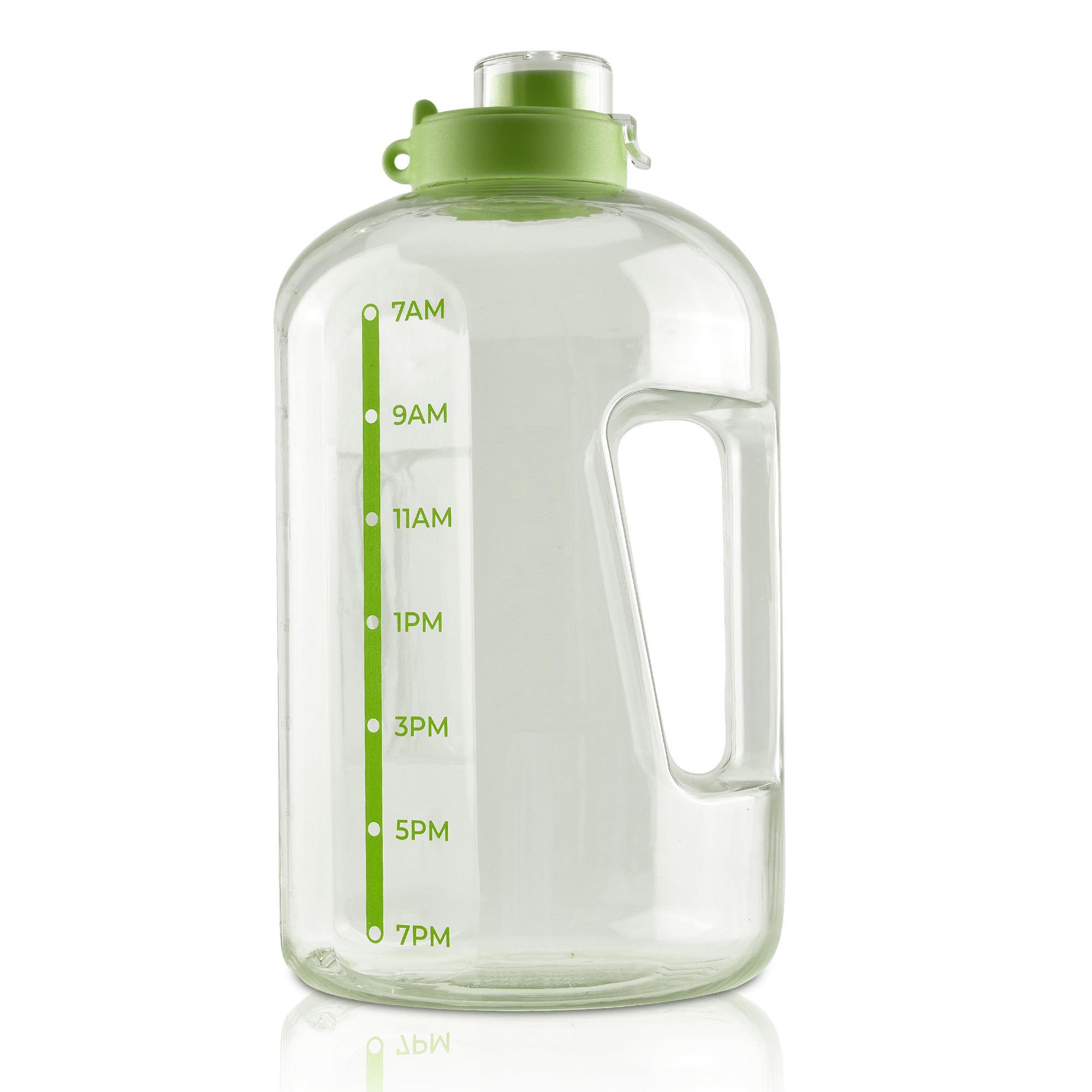 Dishwasher Safe One Gallon Leak-Proof Drinking Water Jug Bottle with Time Marker