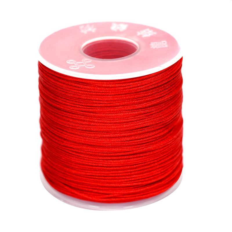 Wholesale Jewelry Hanging Rope Diy Hand Bracelet Rope Lucky Weave Red Rope 0.8mm 80 Color