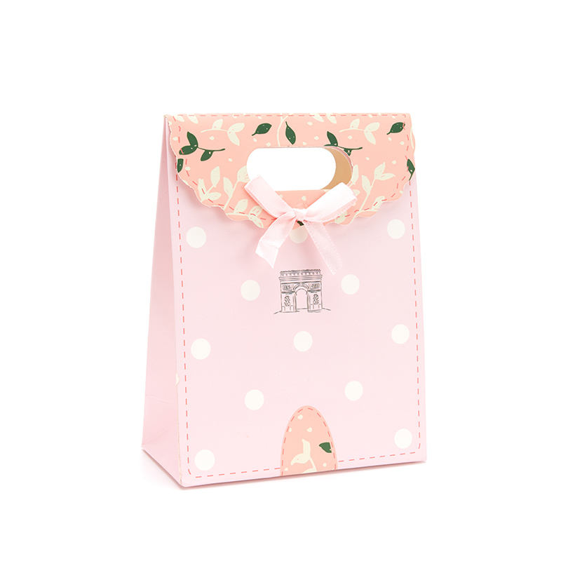 Elegant candy wedding bags paper gift bag with a ribbon bow