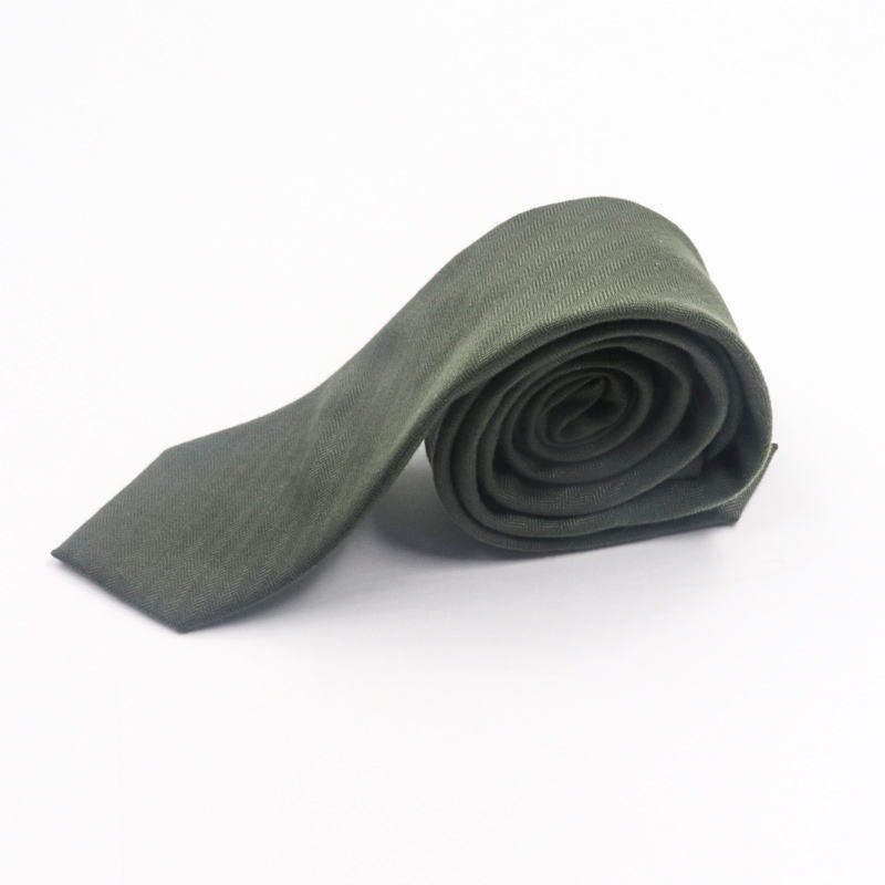 Men Business Wool Cashmere Skinny Necktie Warm Style Jacquard Brushed Wool Velvet Tie