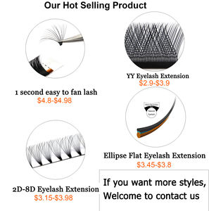 Wholesale Factory Price Lash Extension Tray Private Label Custom Package Premium Bulk Korean Silk Eyelash Extension