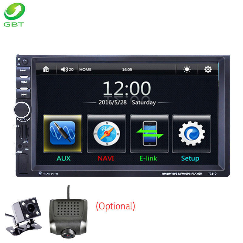 Universal 7 zoll auto audio-player 2 din video Win CE USB FM MirrorLink touch screen GPS auto navigation