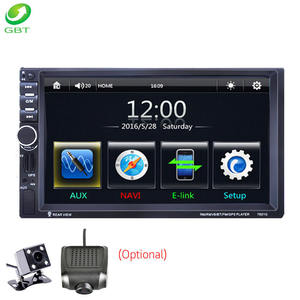 Universal 7 inch car audio player 2 din video Win CE USB FM MirrorLink touch screen GPS car navigation