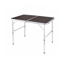 popular used metal camping aluminum small folding picnic wooden table