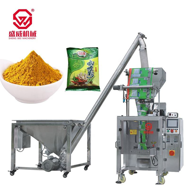 Milk Packaging Vffs Chilli Washing Salt Filling Bag for Powder Spicy Beans Automatic Spice Sachet Powder Packing Machine