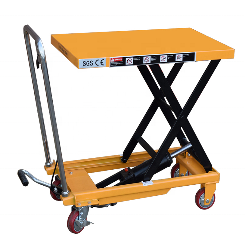 Chariot <span class=keywords><strong>hydraulique</strong></span> manuel avec plateforme, <span class=keywords><strong>Table</strong></span> <span class=keywords><strong>élévatrice</strong></span>, ciseaux Portable
