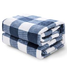 Fluffy Warm Plaid Fleece Travel Size Throw Blanket For Sofa Blanket
