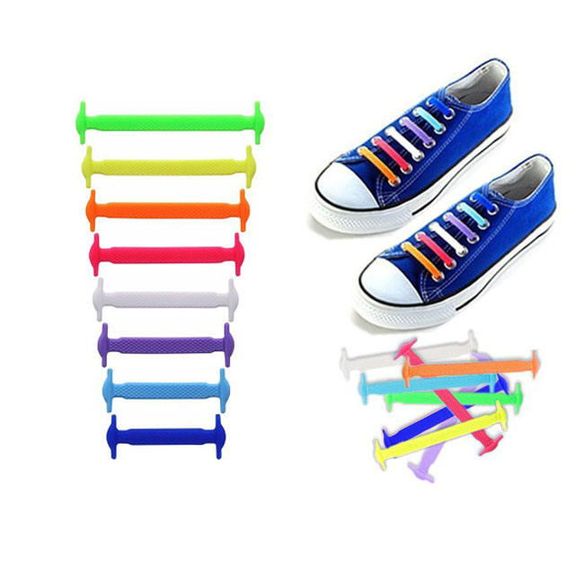 Shoes Accessories Elastic Silicone Shoelaces Elastic Shoelace Creative Lazy Silicone Laces No Tie Rubber Lace