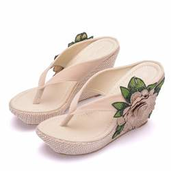 Woman Slippers Lady Home Slippers Casual Beach Flip Flops Sa