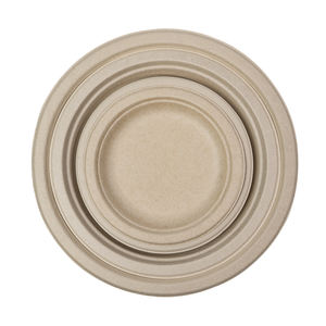 High quality round disposable eco biodegradable dinner food dessert cake plate suppliers