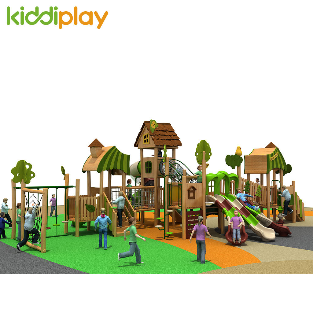 High Quality Factory Price Kids Outdoor Playground Wooden Play Sets Children Outdoor Playground Wooden Structure