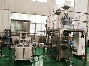 304SS coffee weigh and filling line machine in factory industry