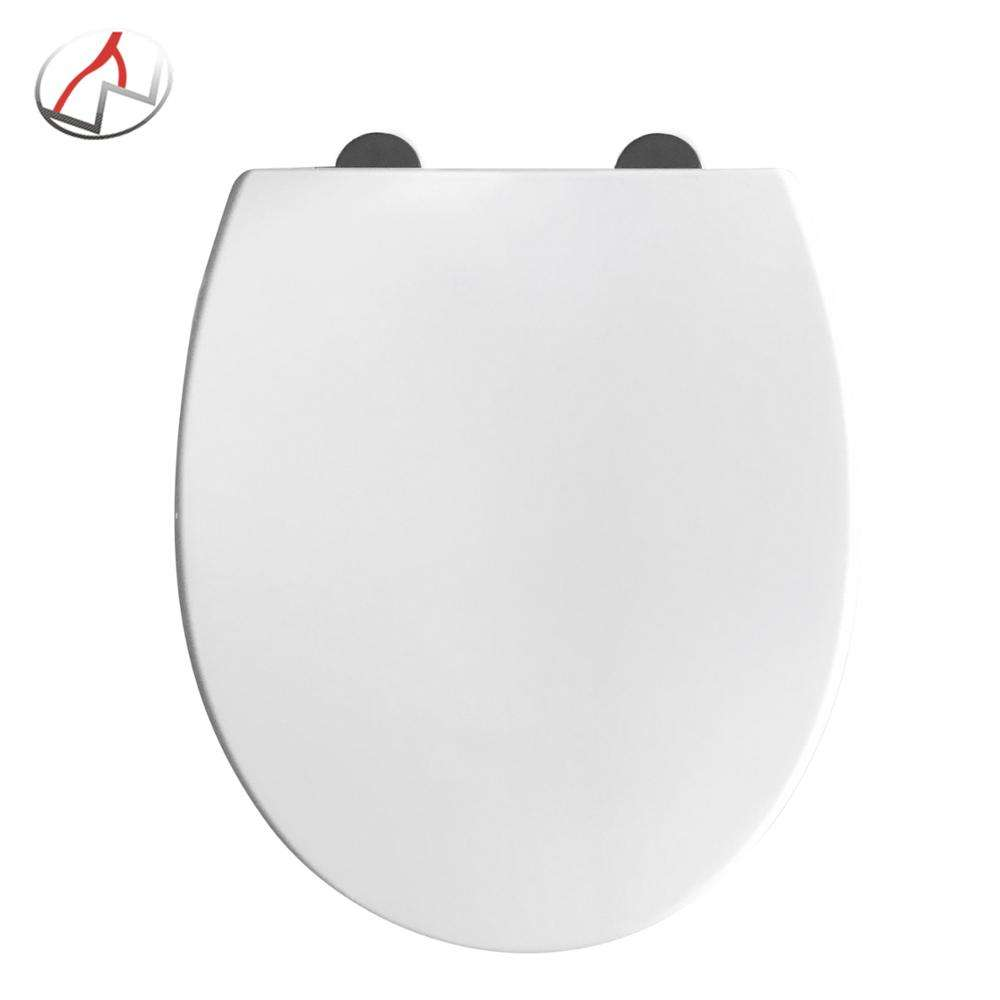 18inch European standard shape soft close toilet seat with top fix and one button quick release PP toilet set wc sitz