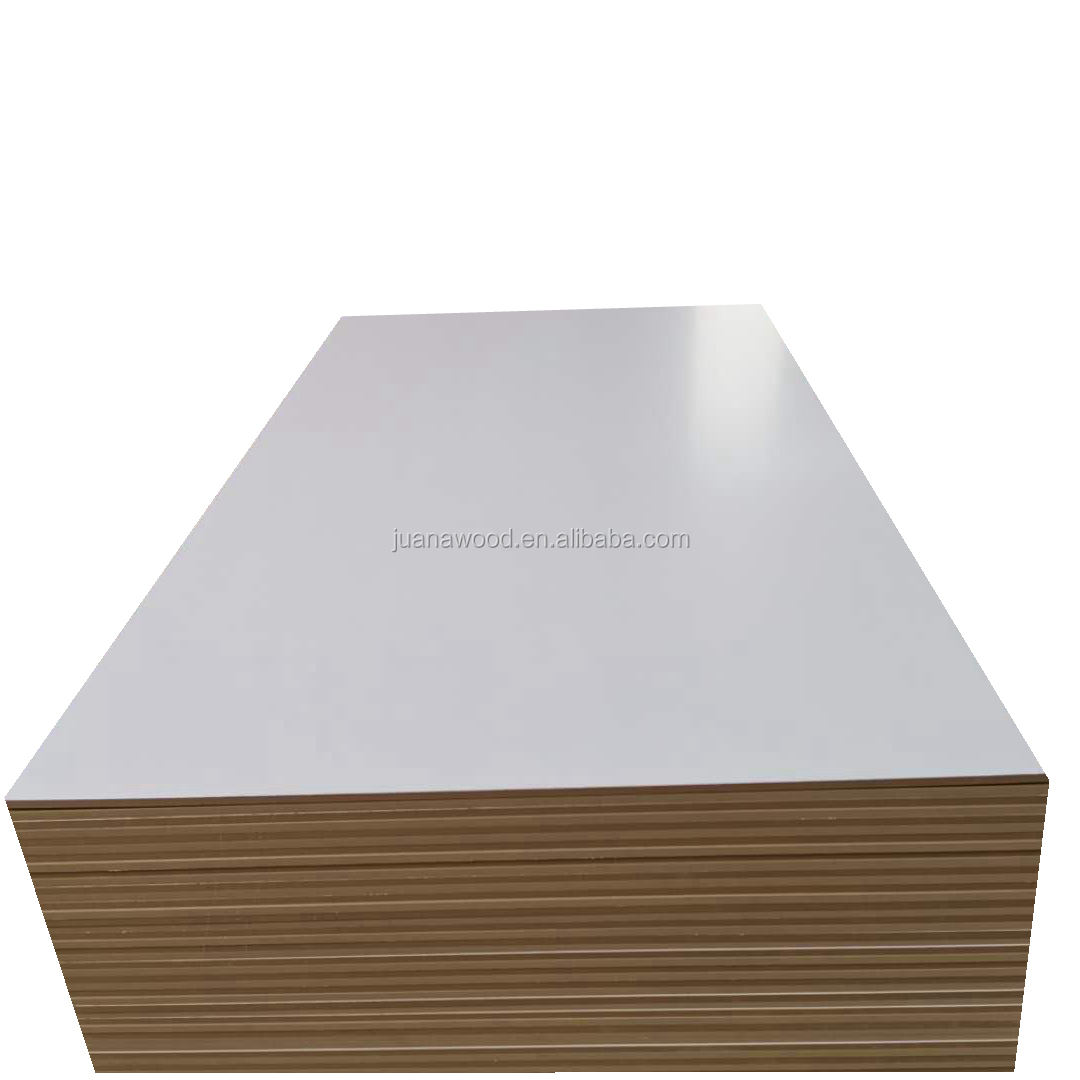 10mm 12mm 15mm 16mm 18mm 1220x2440mm white two sides melamine mdf board for decoration for bangladesh market