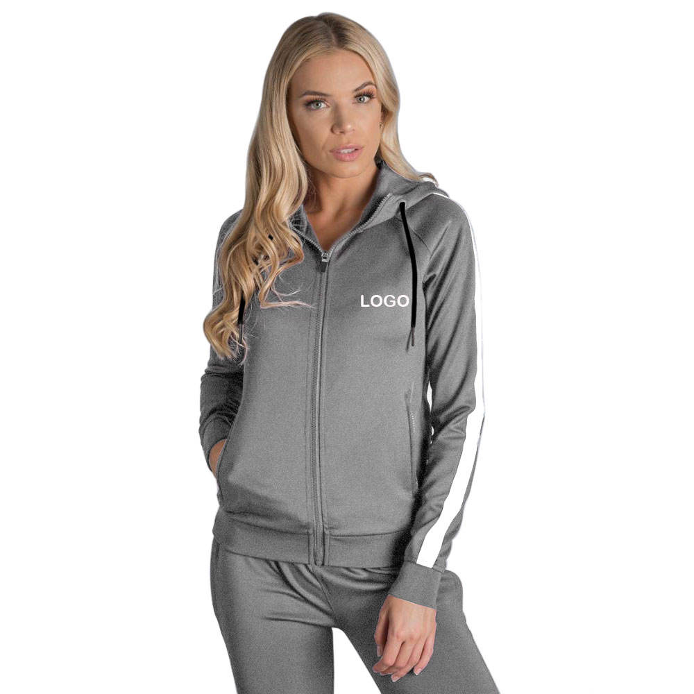 Womens Sweat Plus Size Suit Hoodie High Quality Blank Jogger 2 Piece Set Top Logo Custom Women Sweatsuit Set