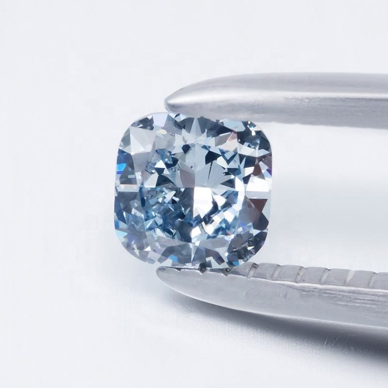 2020 ZF Jewelry In Stock Cushion Excellent Cut Blue Color VS Per 1 Carat Price HPHT Loose Lab Grown Diamond