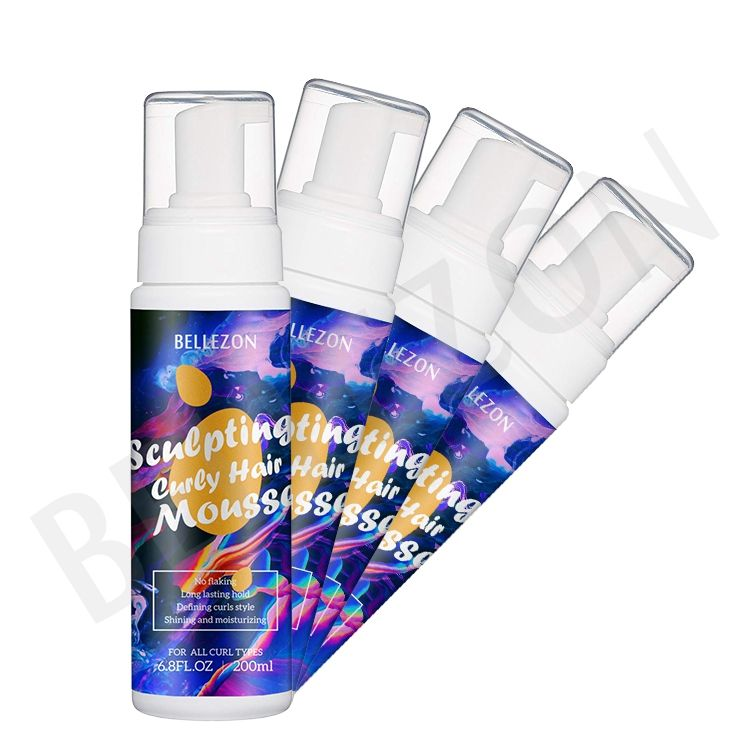 Private Label Hair Products Rich Foam Styling Strong Hold Hair Foam Mousse for Curly Hair