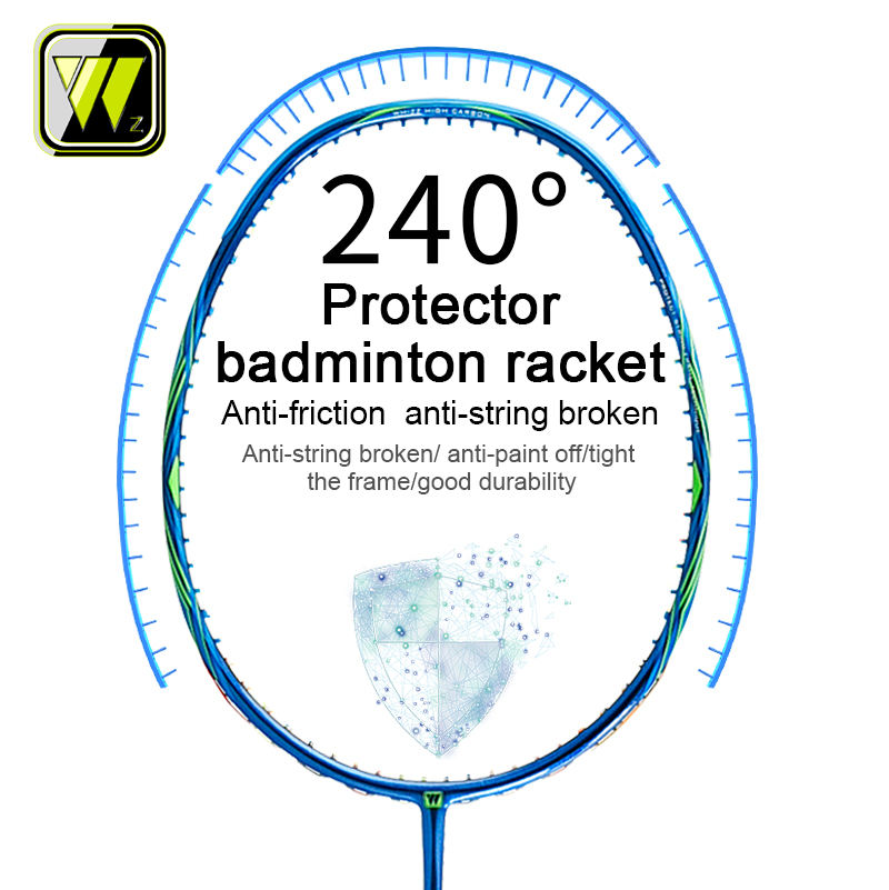 New arrival Whizz brand new style custom protector badminton racket