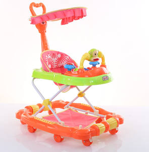 2019 New model 4 in 1 baby walkers ,factory wholesale hot selling multi-function round baby walker with canopy