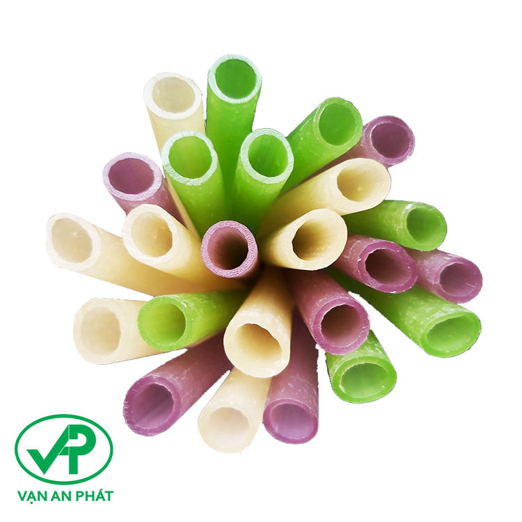 100% natural new design tapioca disposable colored plastic drinking rice straw in Vietnam