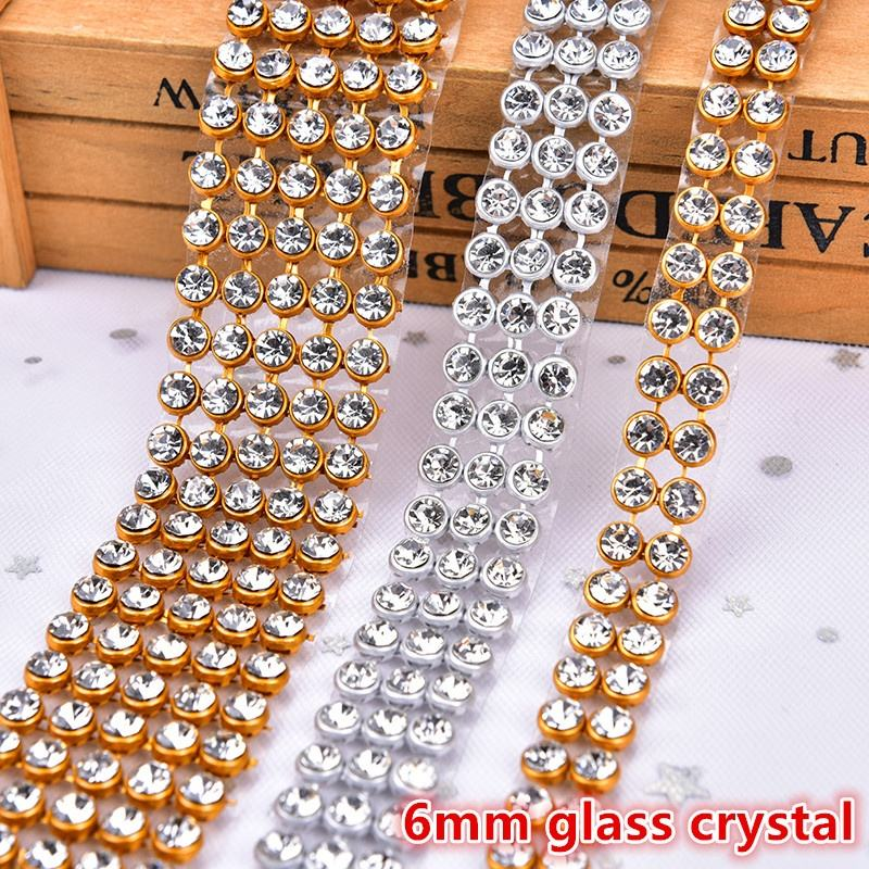 Aluminum Metal Strass Mesh Decoration Rhinestone Trim